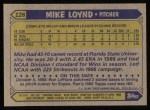 1987 Topps #126  Mike Loynd  Back Thumbnail