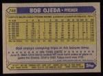 1987 Topps #746  Bob Ojeda  Back Thumbnail