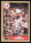 1987 Topps #344   Joe Niekro   Front Thumbnail