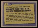 1987 Topps #2   -  Jim Deshaies Record Breaker Back Thumbnail
