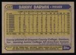 1987 Topps #157  Danny Darwin  Back Thumbnail
