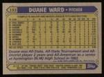 1987 Topps #153  Duane Ward  Back Thumbnail