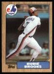 1987 Topps #650  Hubie Brooks  Front Thumbnail