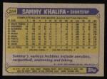 1987 Topps #164  Sammy Khalifa  Back Thumbnail