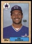 1987 Topps #427  Edwin Nunez  Front Thumbnail