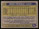 1987 Topps #388  Geno Petralli  Back Thumbnail