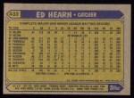 1987 Topps #433  Ed Hearn  Back Thumbnail