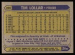 1987 Topps #396  Tim Lollar  Back Thumbnail