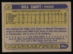 1987 Topps #67  Bill Swift  Back Thumbnail