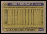 1987 Topps #630  John Candelaria  Back Thumbnail