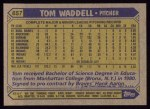 1987 Topps #657  Tom Waddell  Back Thumbnail