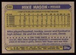 1987 Topps #646  Mike Mason  Back Thumbnail