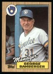 1987 Topps #468  George Bamberger  Front Thumbnail