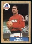 1987 Topps #421  Jose DeLeon  Front Thumbnail