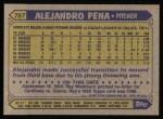 1987 Topps #787  Alejandro Pena  Back Thumbnail