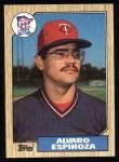 1987 Topps #529  Alvaro Espinoza  Front Thumbnail
