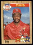 1987 Topps #598   -  Ozzie Smith All-Star Front Thumbnail