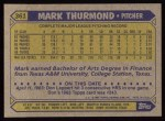 1987 Topps #361  Mark Thurmond  Back Thumbnail