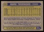 1987 Topps #361  Mark Thurmond  Back Thumbnail