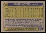 1987 Topps #227  Jamie Moyer  Back Thumbnail
