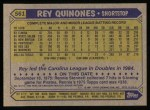 1987 Topps #561  Rey Quinones  Back Thumbnail