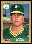 1987 Topps #519  Curt Young  Front Thumbnail