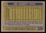1987 Topps #122  Jim Clancy  Back Thumbnail