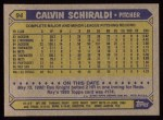 1987 Topps #94  Calvin Schiraldi  Back Thumbnail