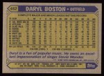 1987 Topps #482  Daryl Boston  Back Thumbnail