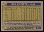 1987 Topps #722  Bob Knepper  Back Thumbnail