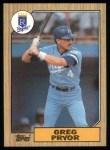 1987 Topps #761  Greg Pryor  Front Thumbnail