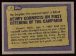 1987 Topps #3   -  Dwight Evans Record Breaker Back Thumbnail