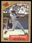 1987 Topps #3   -  Dwight Evans Record Breaker Front Thumbnail