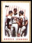 1987 Topps #556   Angels Team Front Thumbnail