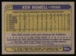 1987 Topps #477  Ken Howell  Back Thumbnail