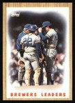 1987 Topps #56   Brewers Team Front Thumbnail