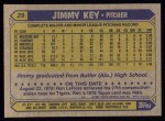 1987 Topps #29  Jimmy Key  Back Thumbnail