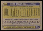 1987 Topps #664  Mike Marshall  Back Thumbnail
