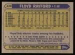 1987 Topps #426  Floyd Rayford  Back Thumbnail
