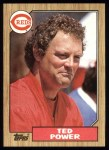 1987 Topps #437  Ted Power  Front Thumbnail