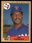 1987 Topps #334  Ed Correa  Front Thumbnail