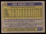1987 Topps #59  Ken Dayley  Back Thumbnail