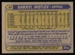 1987 Topps #99  Darryl Motley  Back Thumbnail