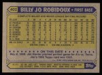 1987 Topps #401  Billy Joe Robidoux  Back Thumbnail