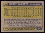 1987 Topps #39  Marty Barrett  Back Thumbnail