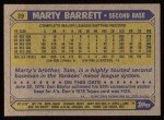 1987 Topps #39  Marty Barrett  Back Thumbnail
