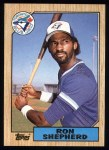 1987 Topps #643  Ron Shepherd  Front Thumbnail
