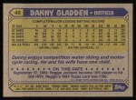 1987 Topps #46  Dan Gladden  Back Thumbnail