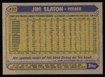 1987 Topps #432  Jim Slaton  Back Thumbnail