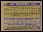 1987 Topps #212  Mike Fitzgerald  Back Thumbnail